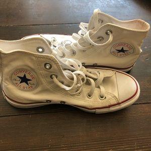 Converse White Hi-Tops
